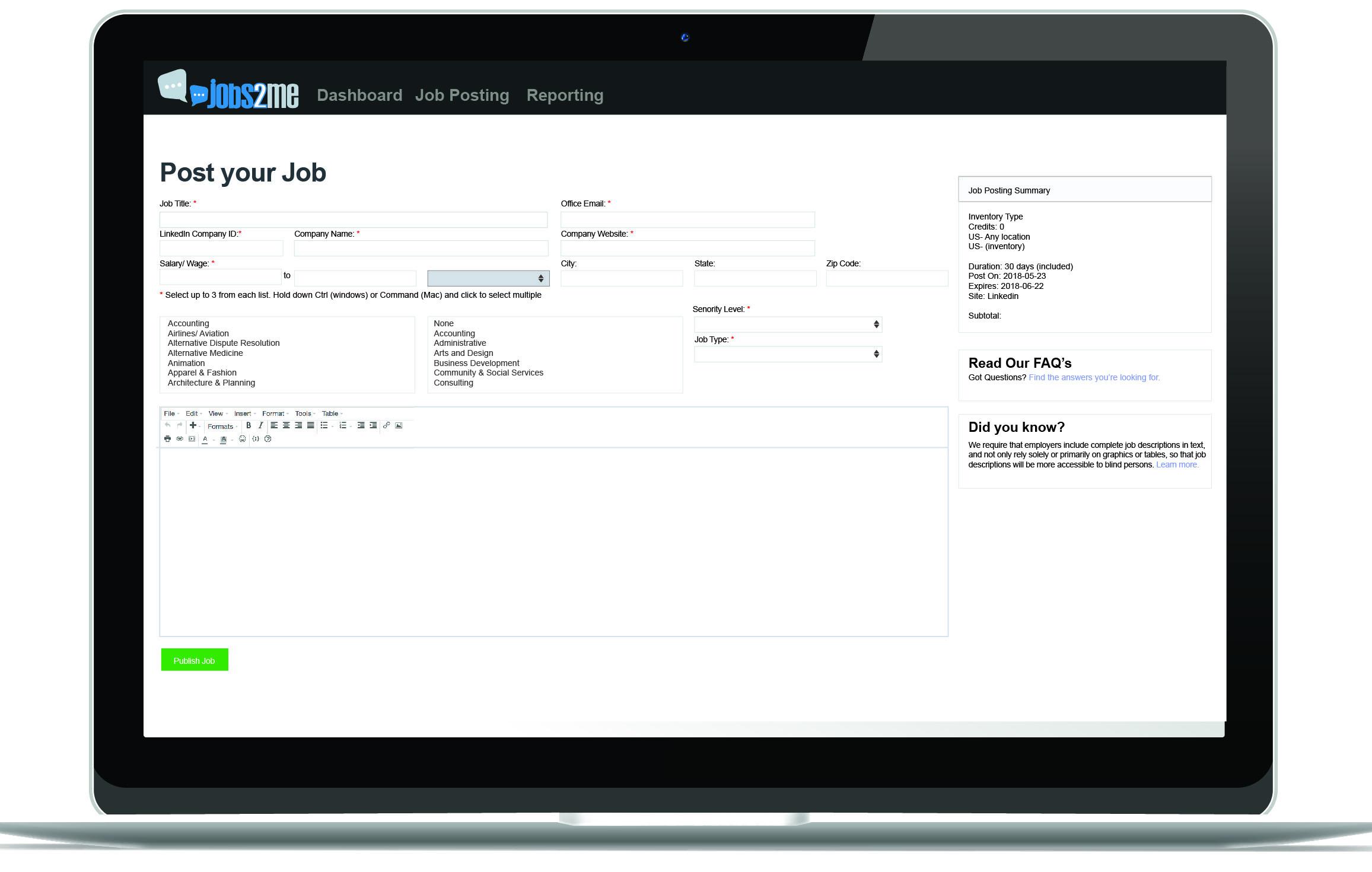 Jobs2Me - Job Postings